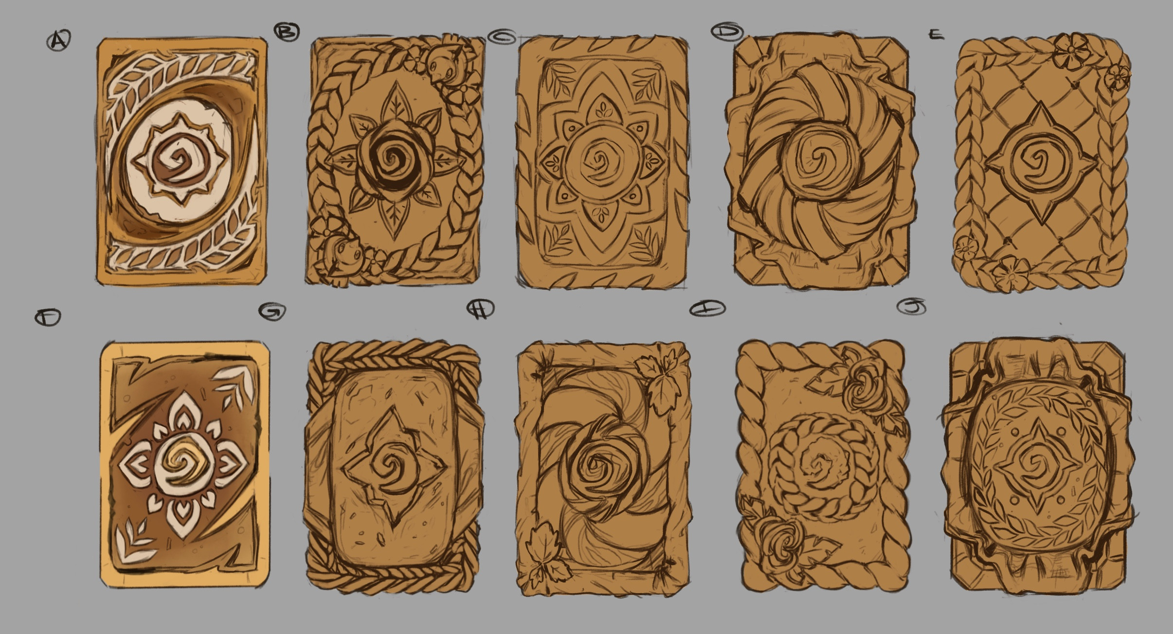 All my initial bread sketches.  There's so many awesome breads in the world :')