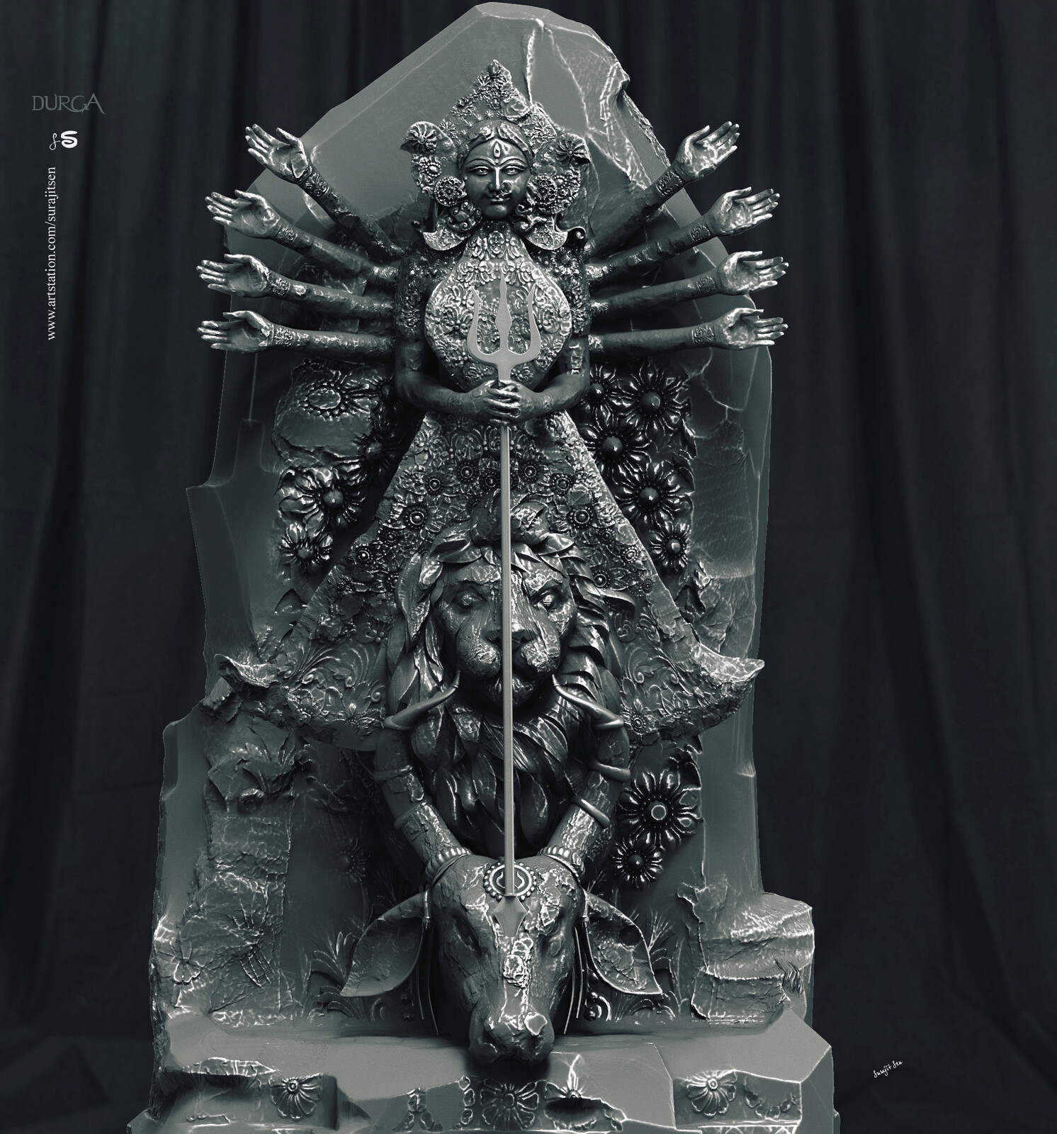 Another version of Durga Sculpture. I tried to make a form of my thoughts.