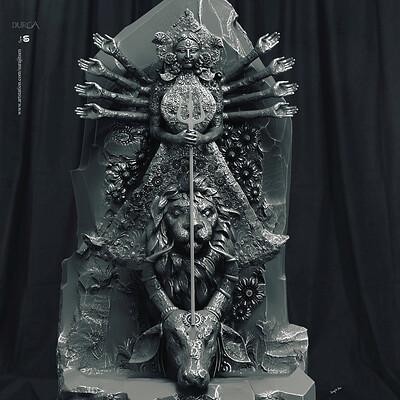 Surajit sen durgav1 digital sculpture surajitsen oct2019 v1a