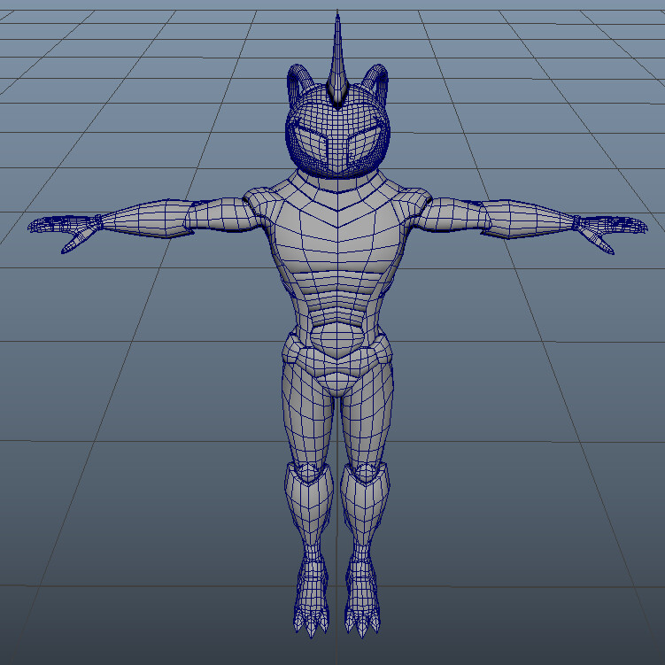 This basemesh was handed over from the concept artist.
