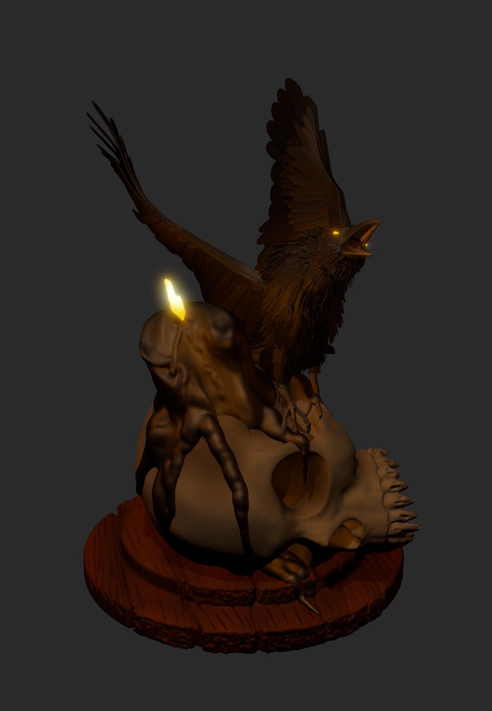 Skull Candle Scene Concept