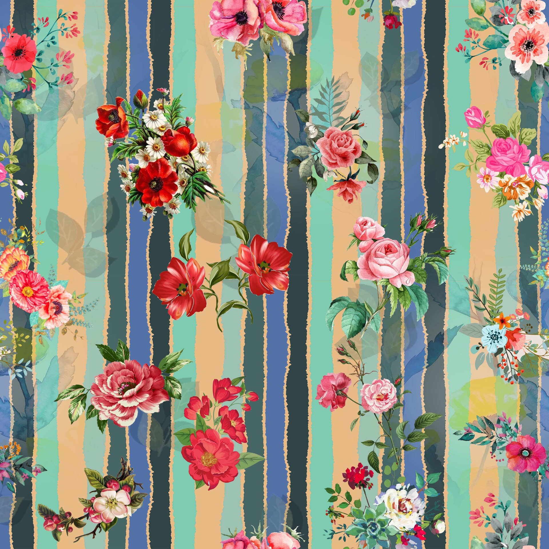 Artstation Seamless Background Floral Wallpaper Delicate