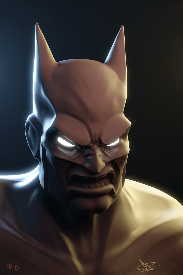 Batman - based off of comic book panels