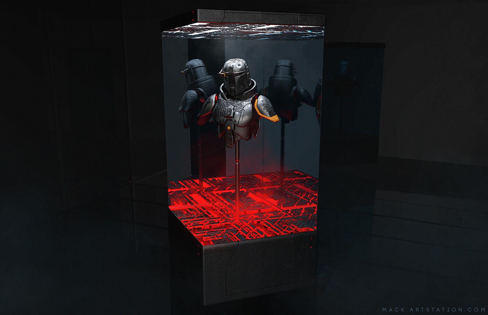 Mandalorian Armor Display