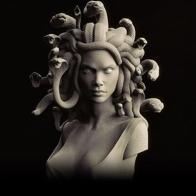 Medusa 1:2 scale Bust