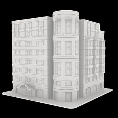Low Poly Building Model