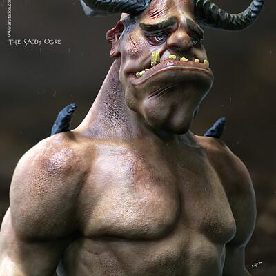 Surajit sen the saddy ogre digital sculpture surajitsen jan2020s