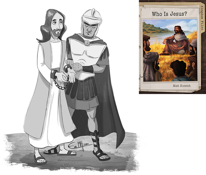 """""""Who Is Jesus?"""" (The Kingdom Files) Author: Matt Koceich Interior Illustrations by Eva Morales Publisher: Barbour Books (2018) ISBN-13: 978-1-68322-626-0"""
