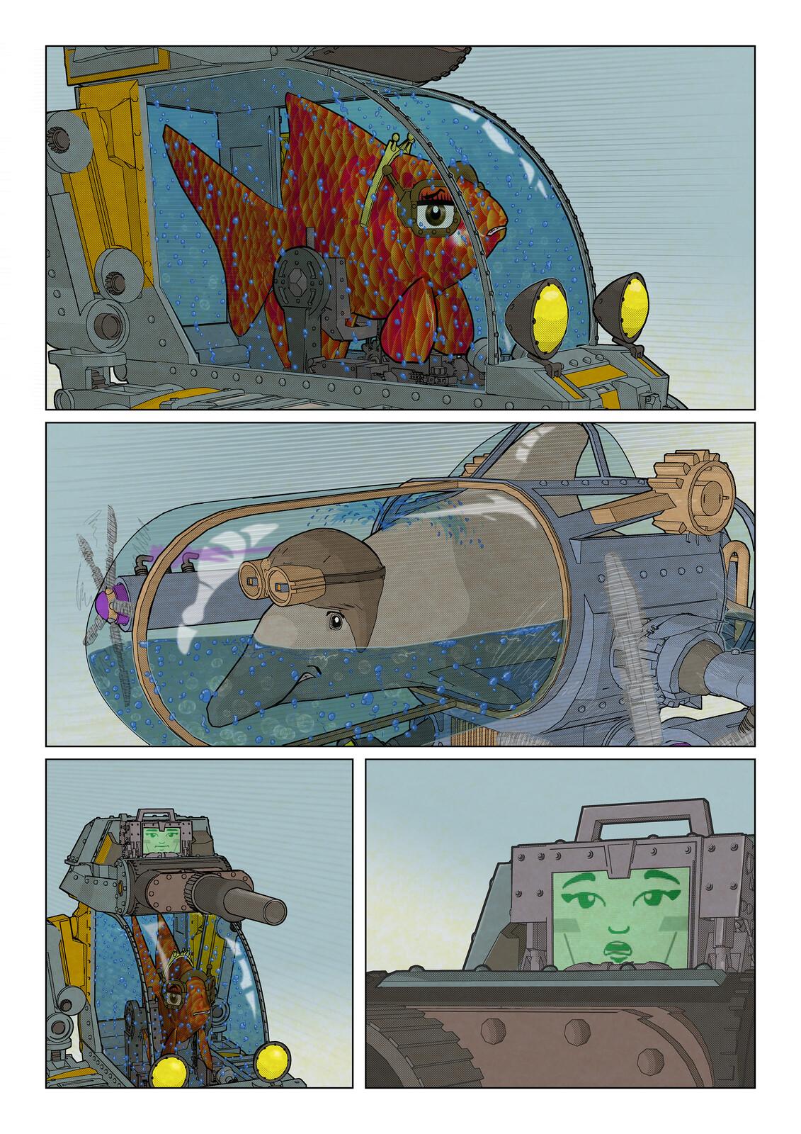 FishTank & Dolphinarium - comic page 3