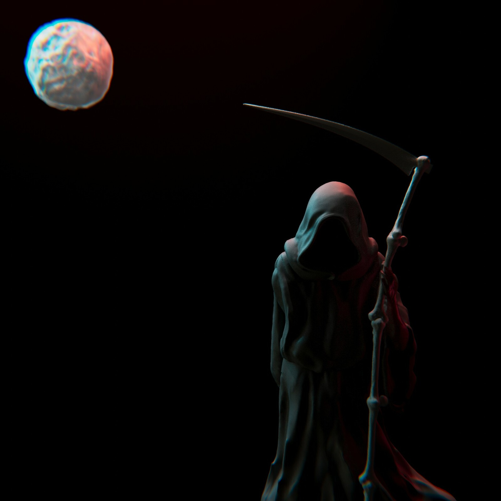 SculptJanuary2020 - Day 06 Darkness