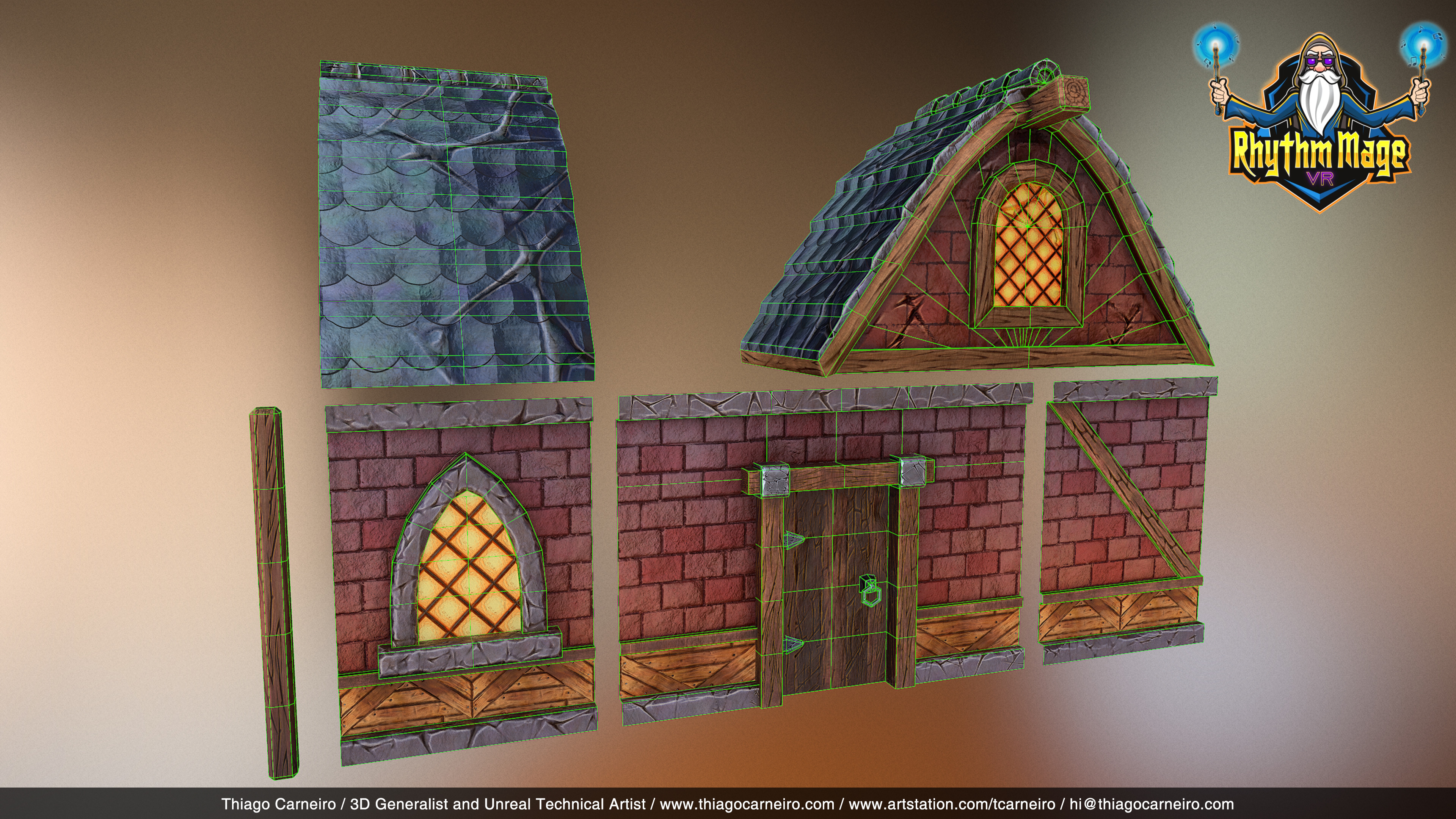 City House Modular Assets Wireframe