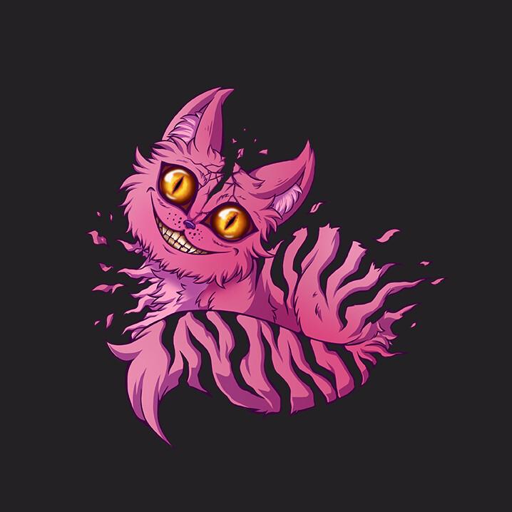 Artstation Creepy Cheshire Cat Crimson Wonders
