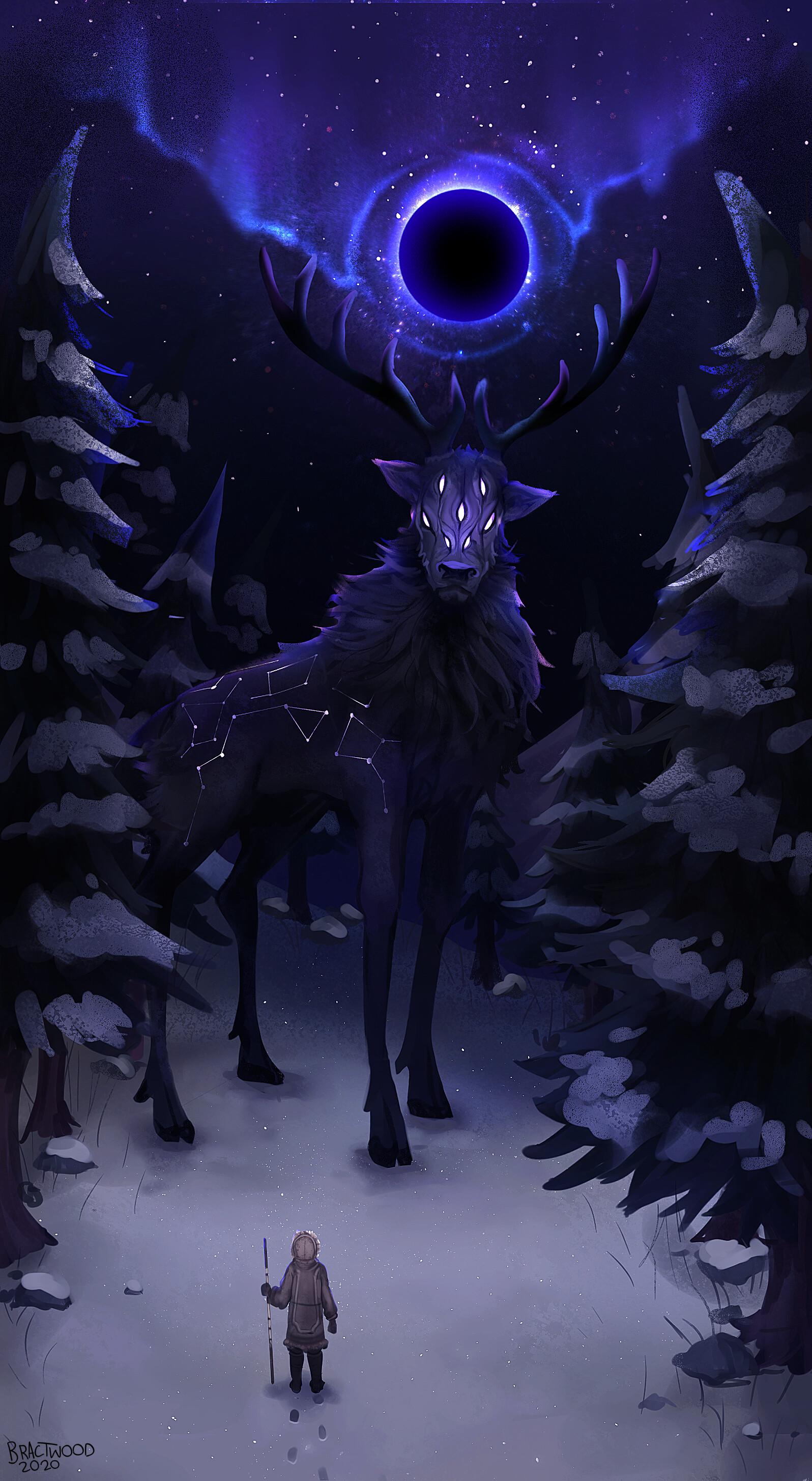 ArtStation - Xeglun - Celestial Elk, Maxine Lugg