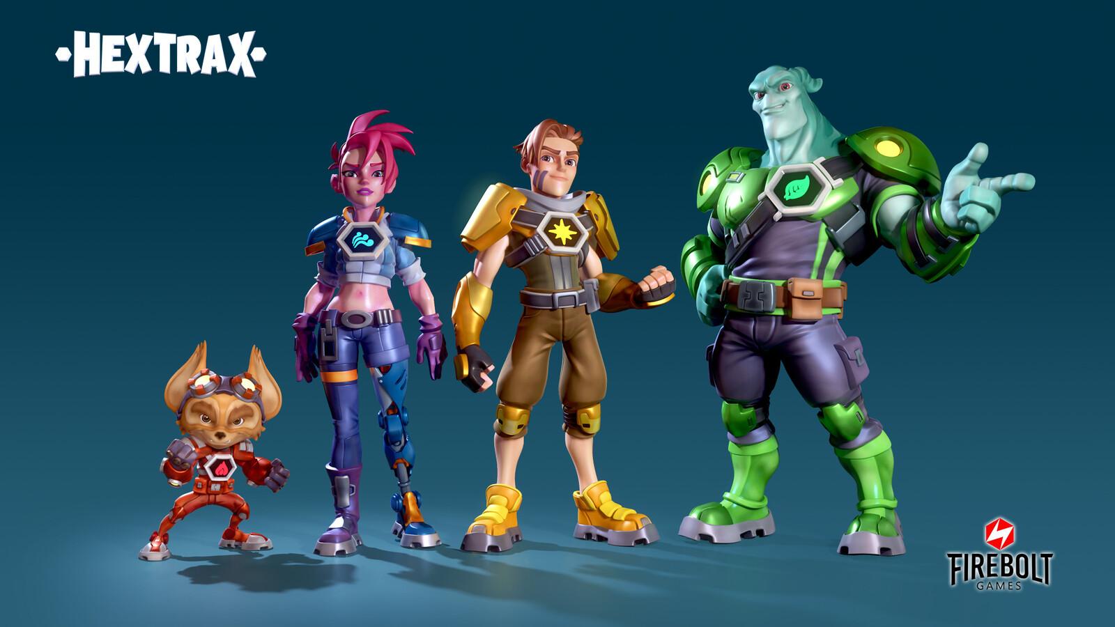 Hextrax - Character Prototypes