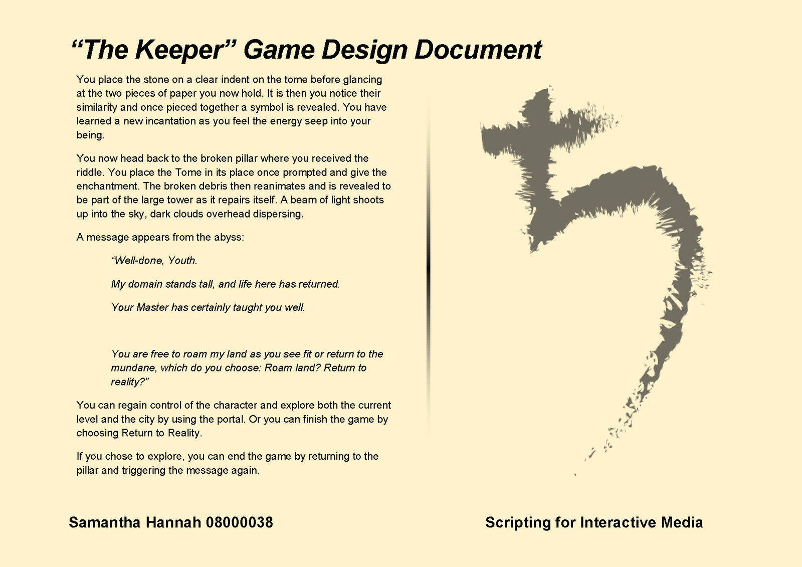 Game Design Document Page 6