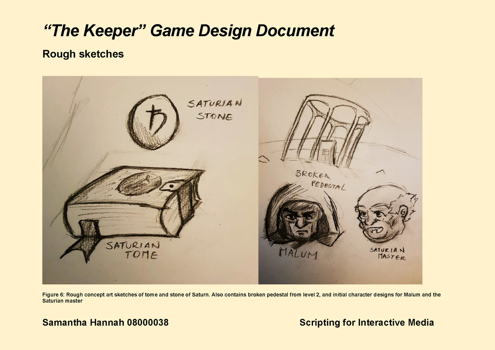 Game Design Document Page 11