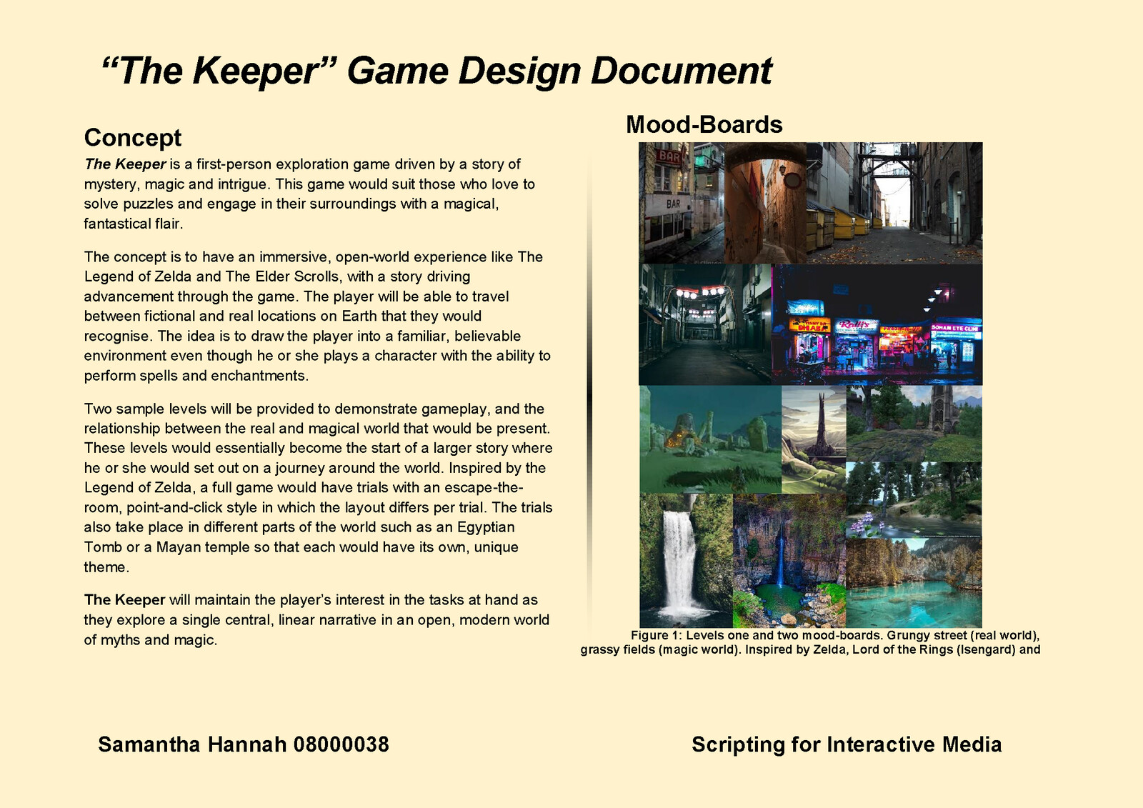 Game Design Document Page 2