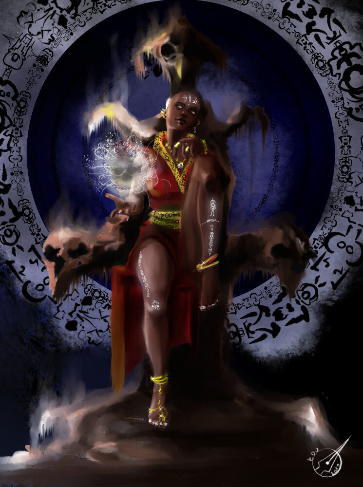 Uphnirnua Irnell -  Dark Arts Witch (Cardgame Illustration)