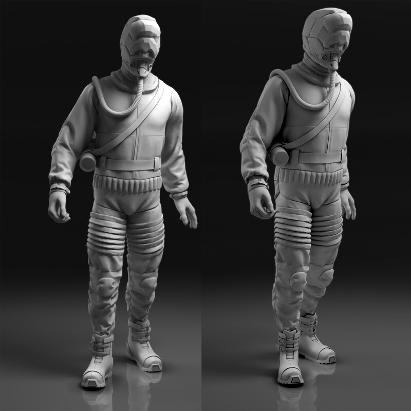 WIP: Sci-fi worker/scientist character concept
