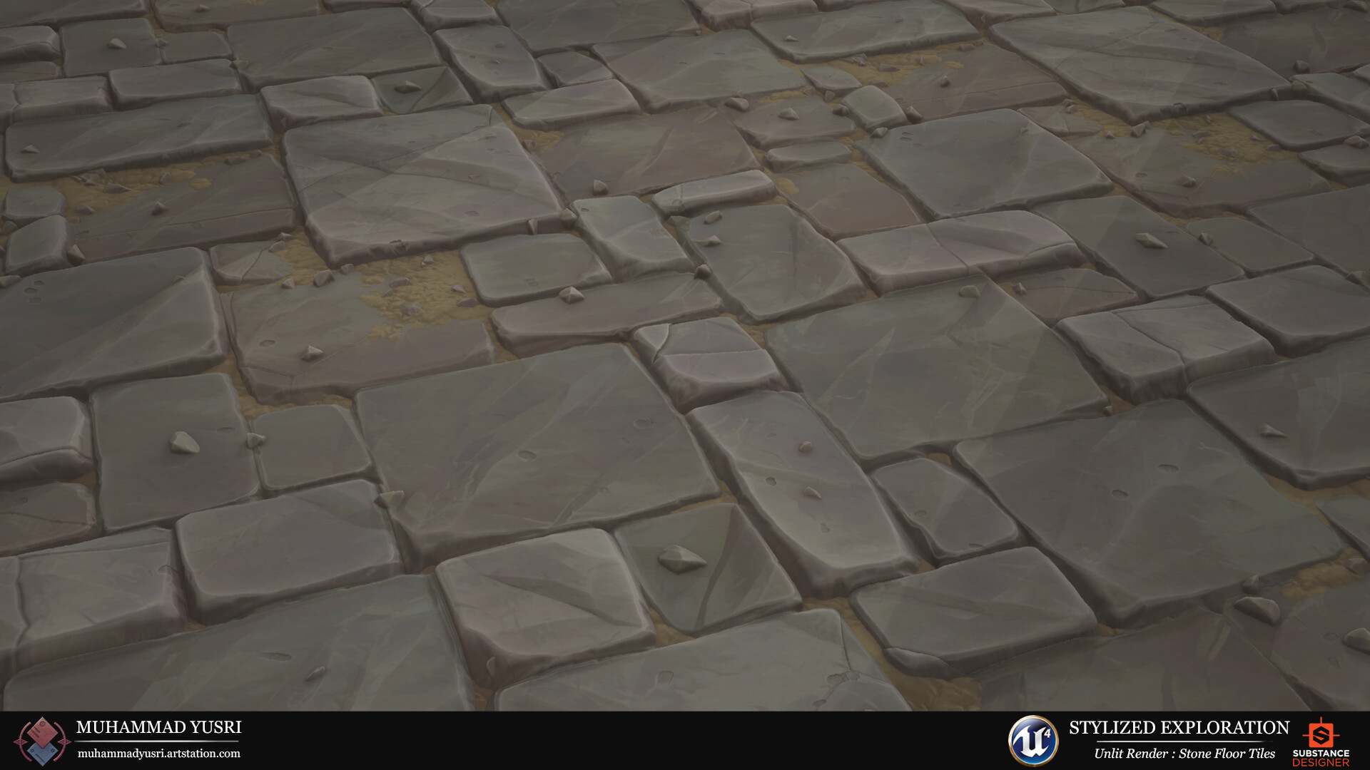Muhammad Yusri Stylized Exploration Stone Floor Tiles