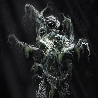 Travis lacey mangled abomination concept art travis lacey horror monster scary web