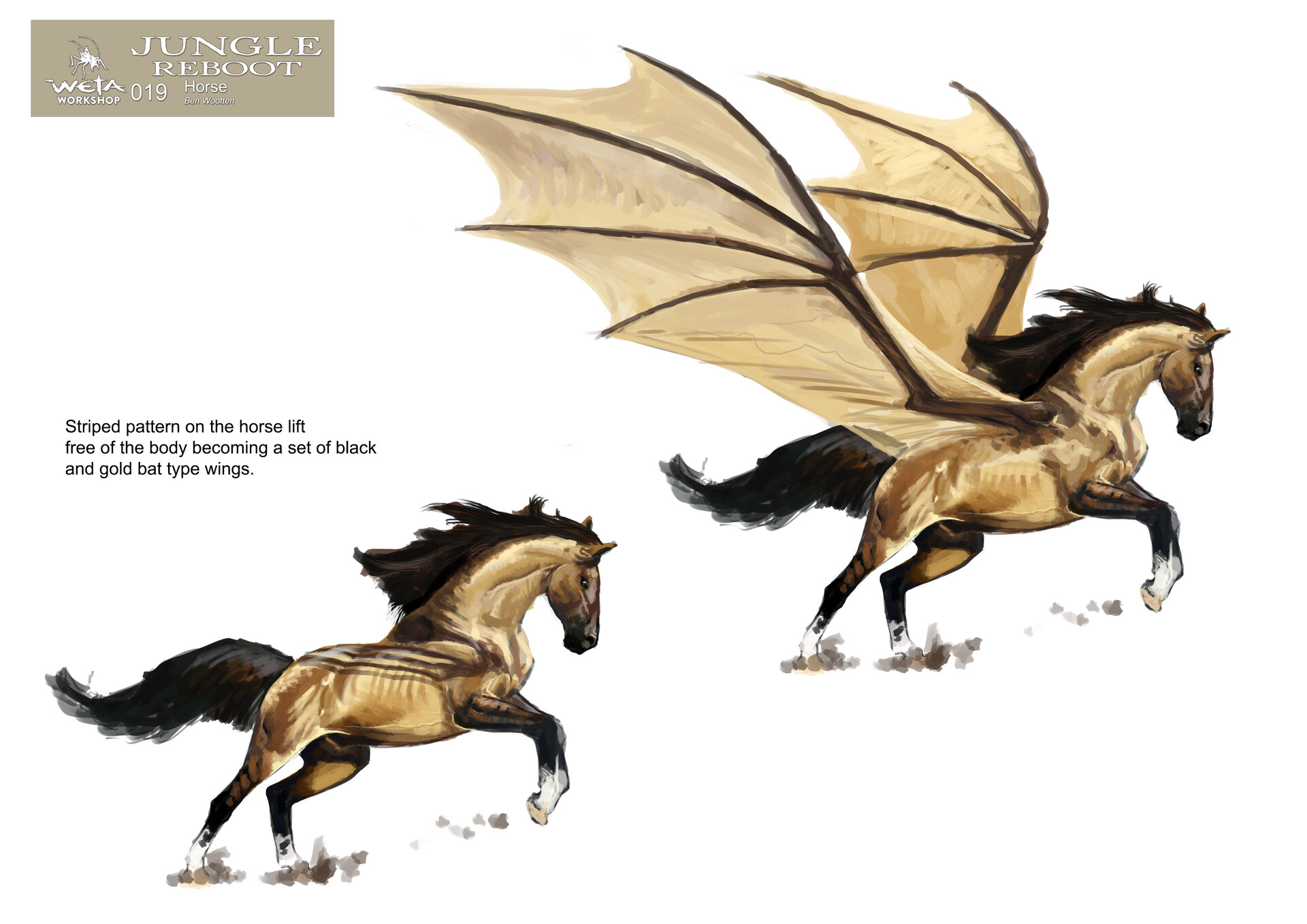 Weta workshop design studio 019 jr horse bw v01