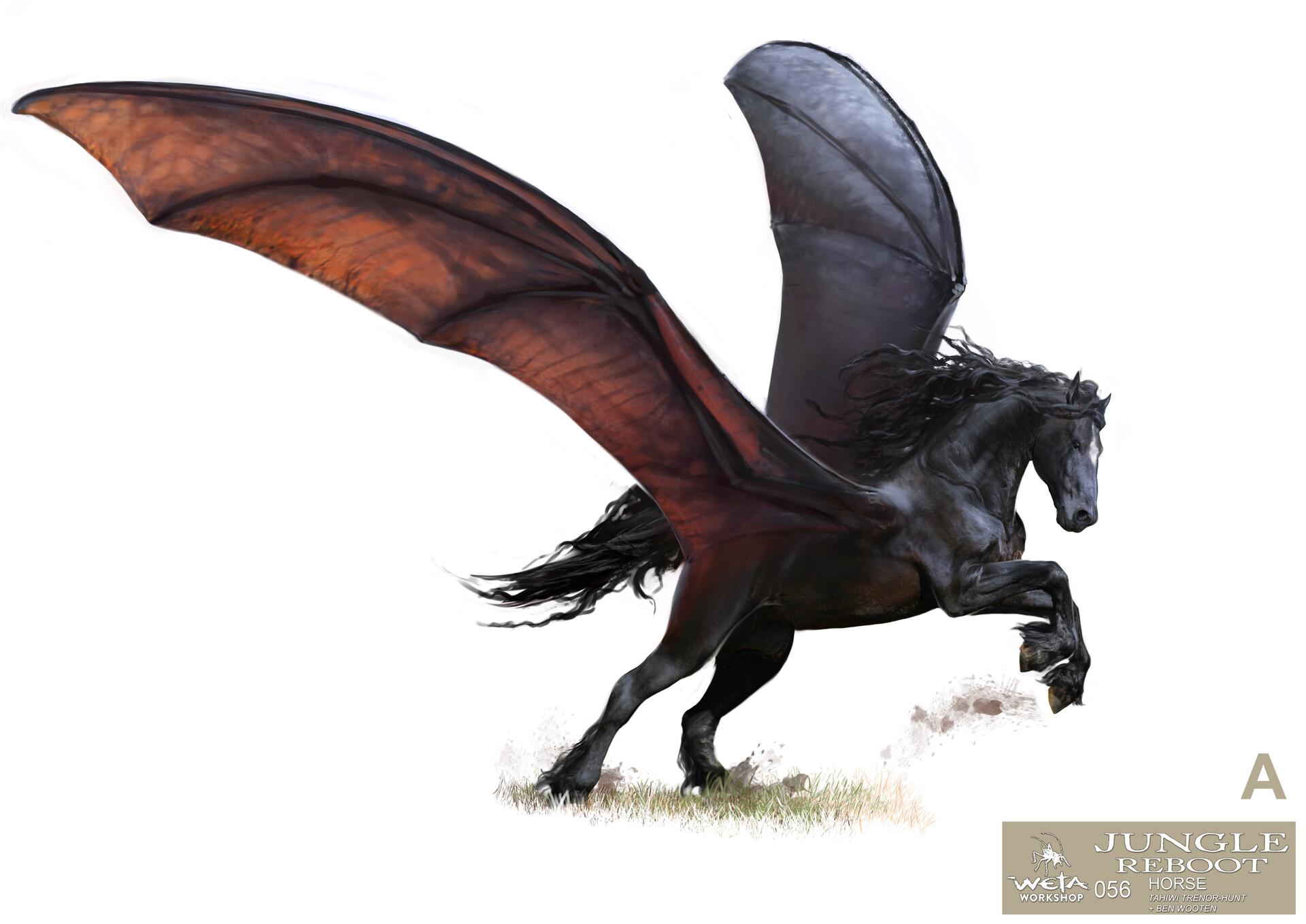 Weta workshop design studio 056 jr horse open wings 02 tth