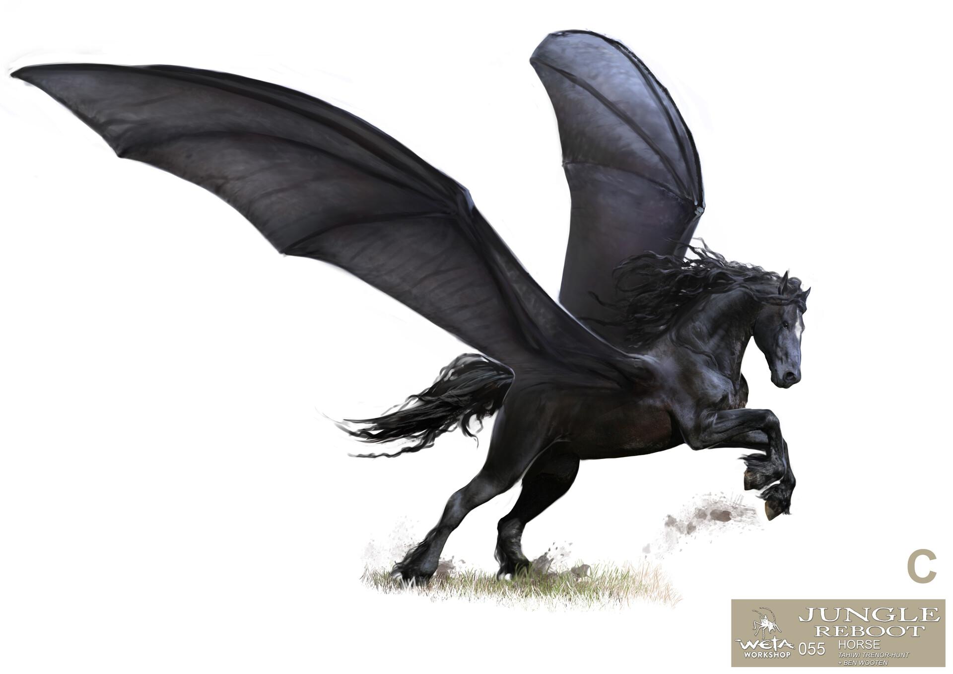 Weta workshop design studio 055 jr horse open wings 04 tth