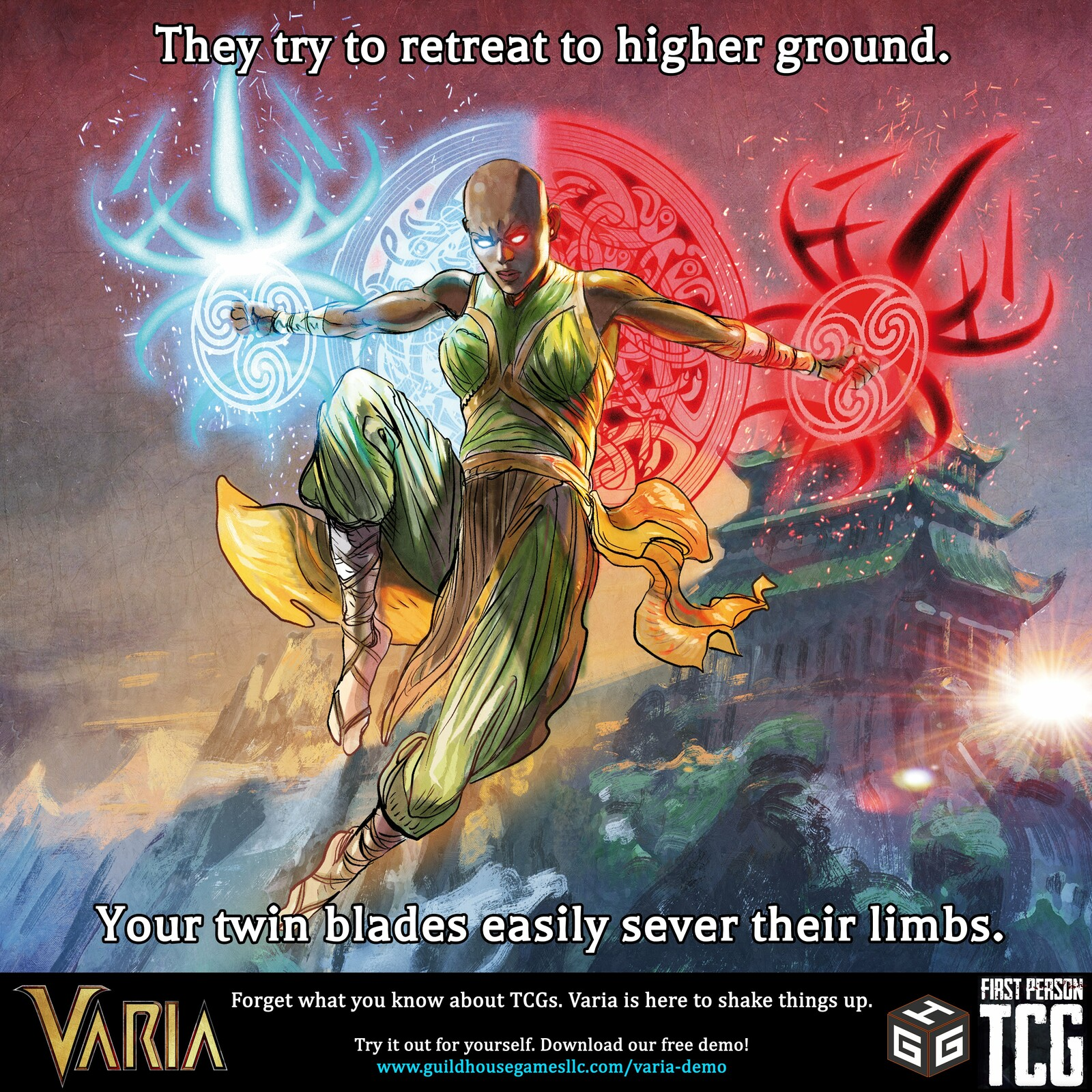 VARIA by Guildhouse Games: Twin Pillars of Adena Card