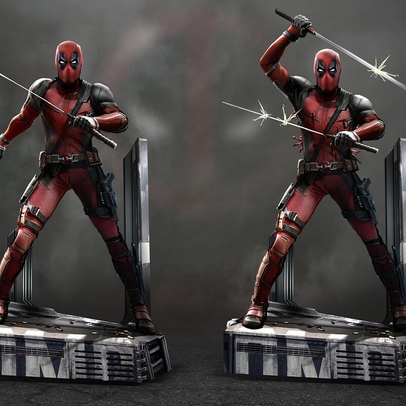 Unused Deadpool 2 statue concepts