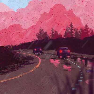 Javi codina carretera roja coche2