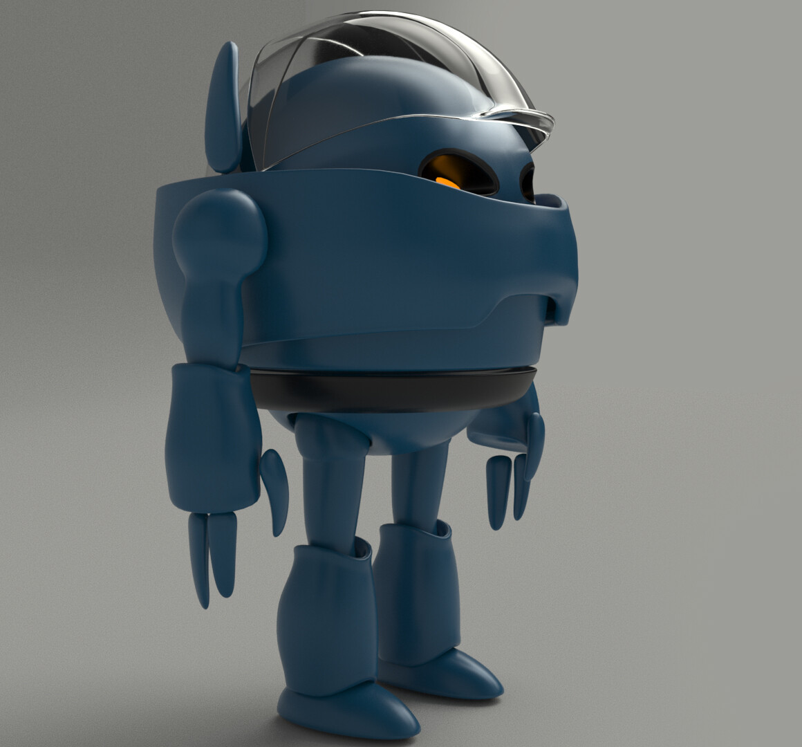 front side view Concept Cartoon Robot (Own Design)