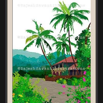 Rajesh r sawant new bg konkan house framed