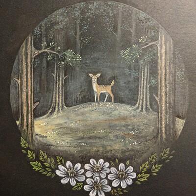 Kaylie benner deer painting