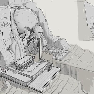 Ancient Port Exploration sketches