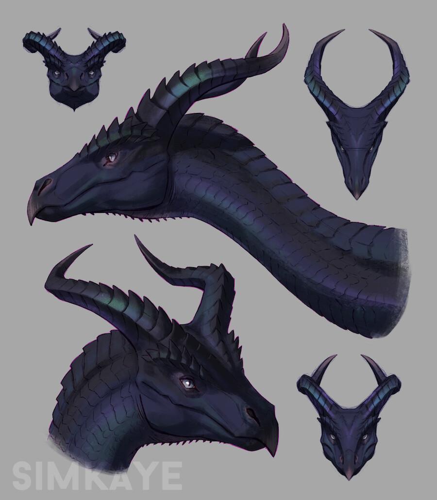 Iridescent Dragon Design