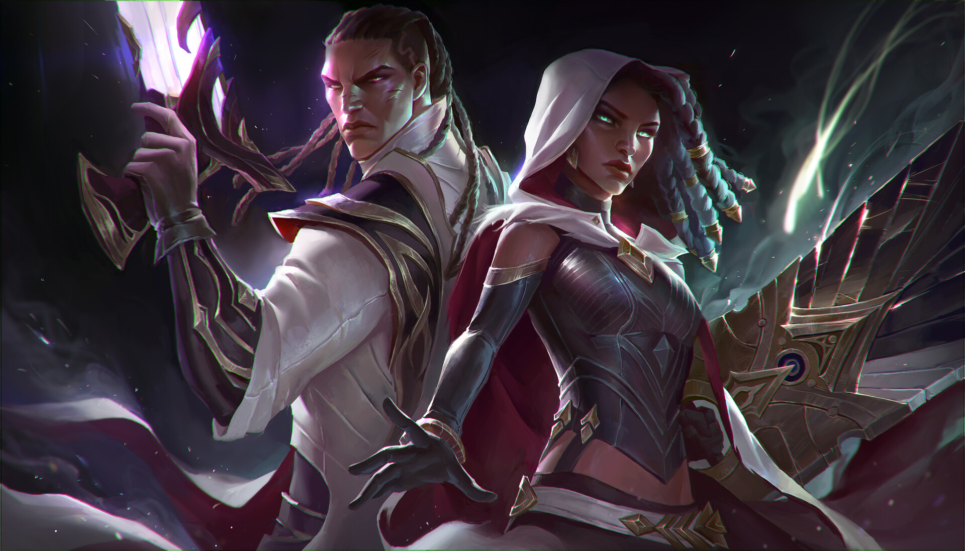 ArtStation - Lucian and Senna Splash, Oviya Vendan