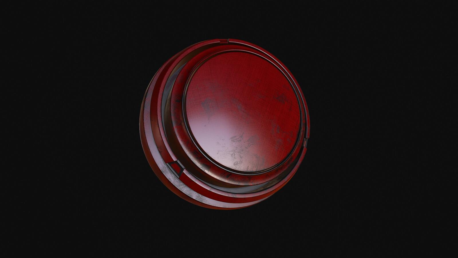 Red Painted Fiber Metal