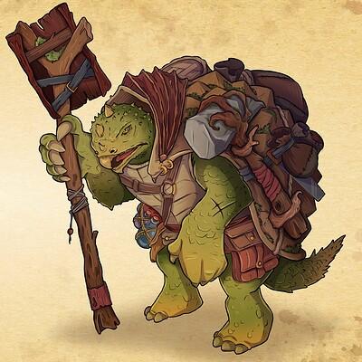 Oixxo art 2020 01 18 turtle druid warrior