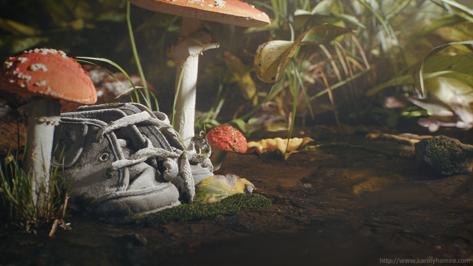 My baby shoes in the forest. :) Full CG work.