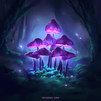 Nele diel glowing mushrooms