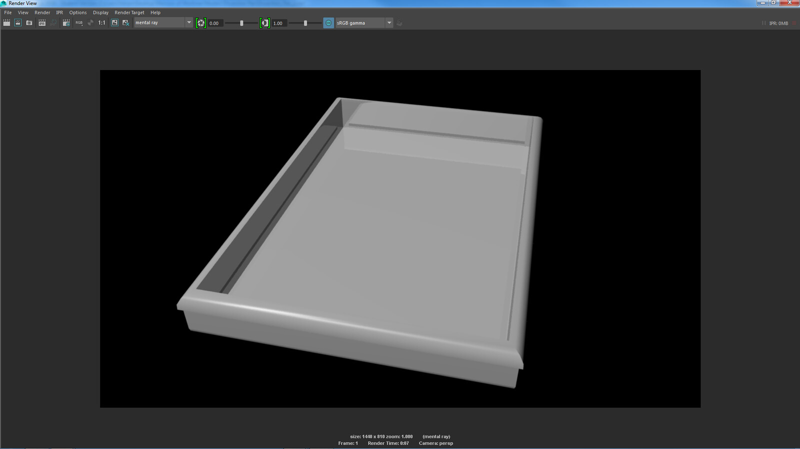 The bare model of the dissection pan