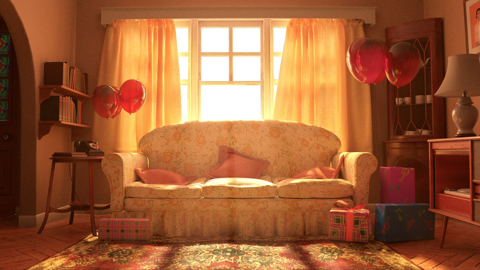 'Birthday': Marvelous Designer Sofa Asset