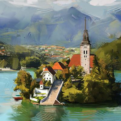 Mike jensen landscape painting 01