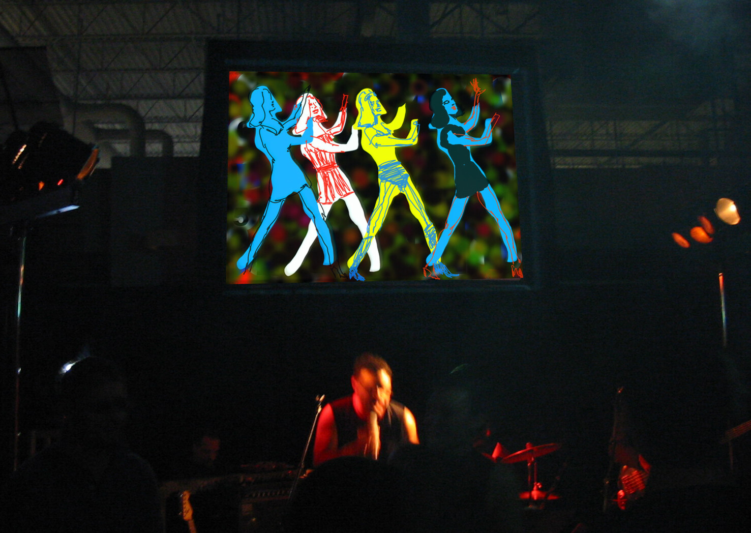 Live painting with computers