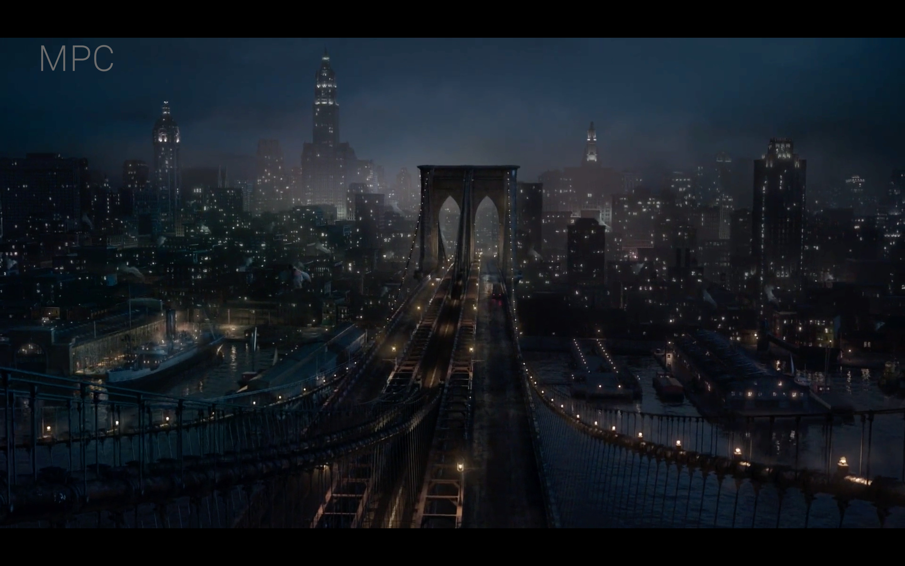 Environment layout and set dressing of the lower Manhattan and Brooklyn in 1920s and lookdev concept