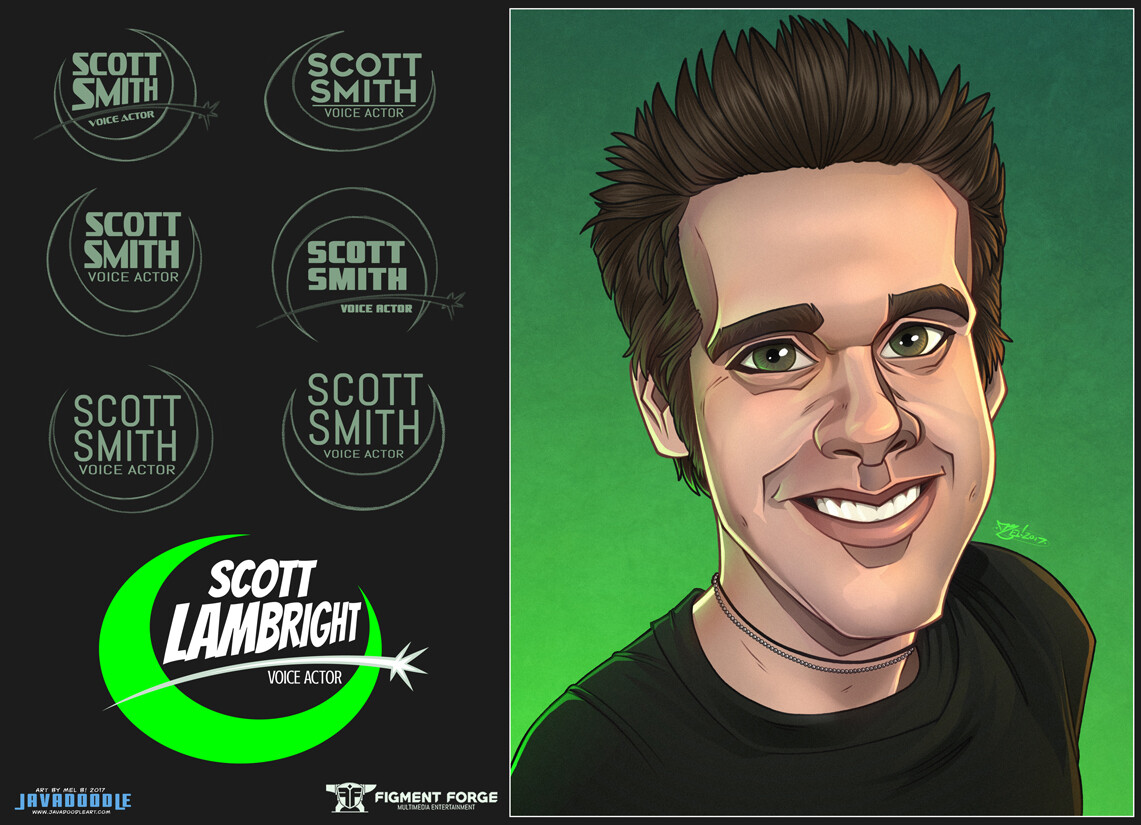 Official Scott Lambright Voice Actor logo, with process.