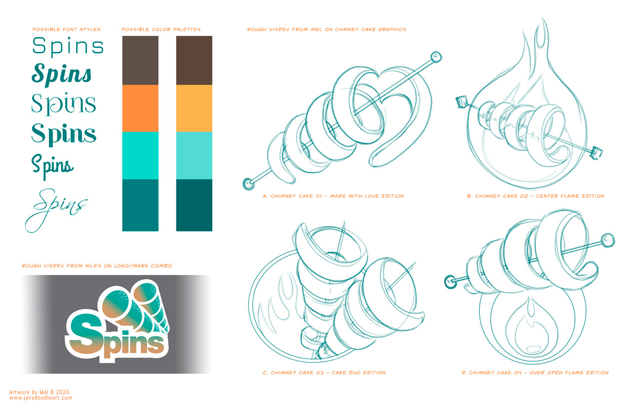 Spins: Sweet and Savory logo process 001