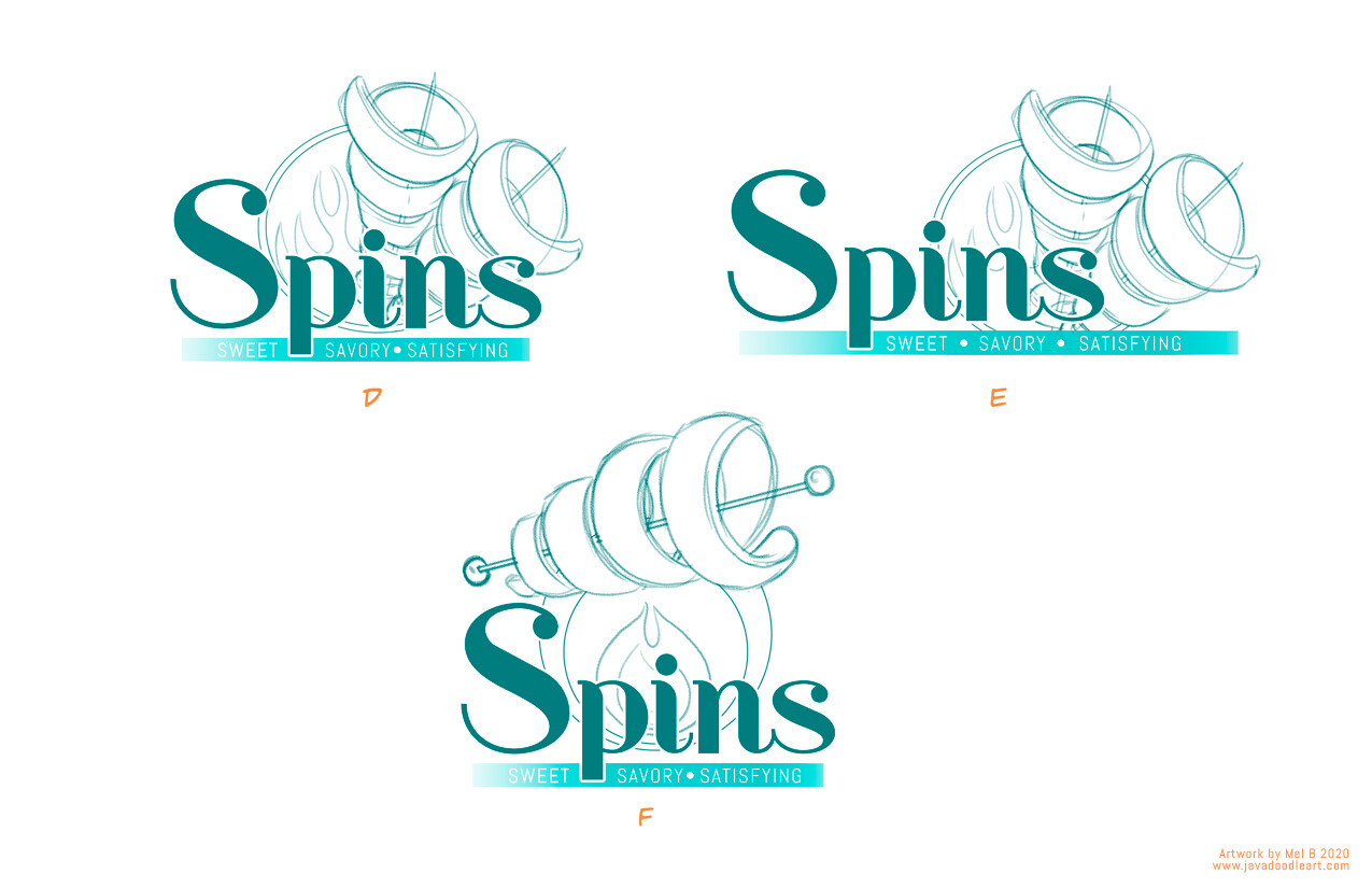 Spins: Sweet and Savory logo process 003