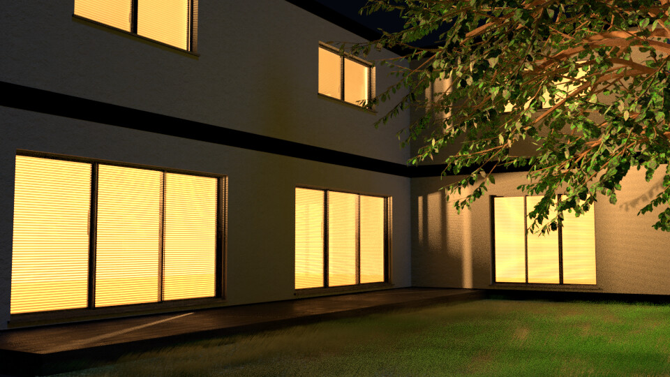 House Exterior at Night - 3